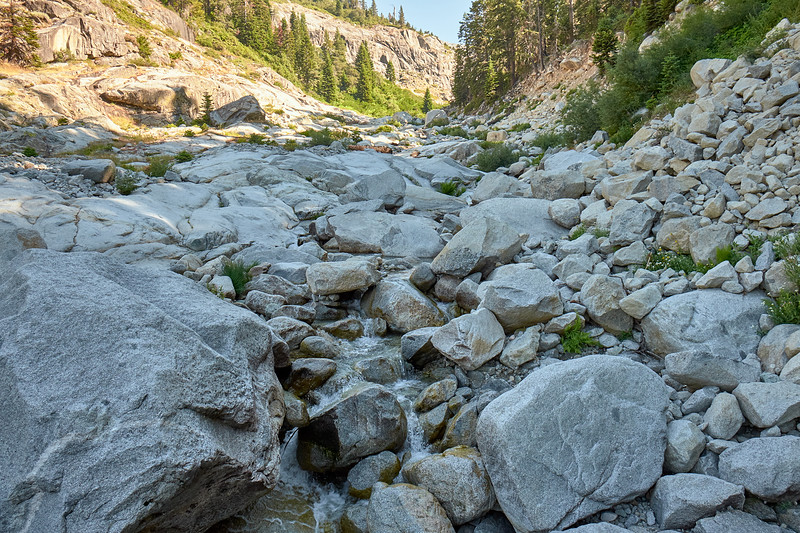 Early morning at Buck Creek, from the High Sierra Trail