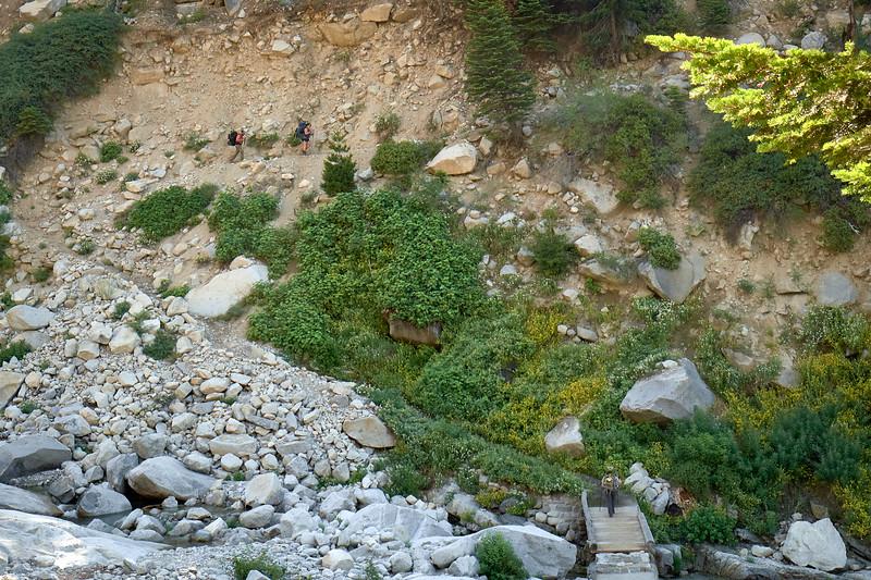 Crossing Buck Creek along the High Sierra Trail