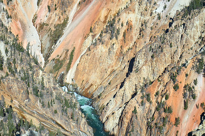 The Grand Canyon of the Yellowstone and the Yellowstone River from the Point Sublime Trail.