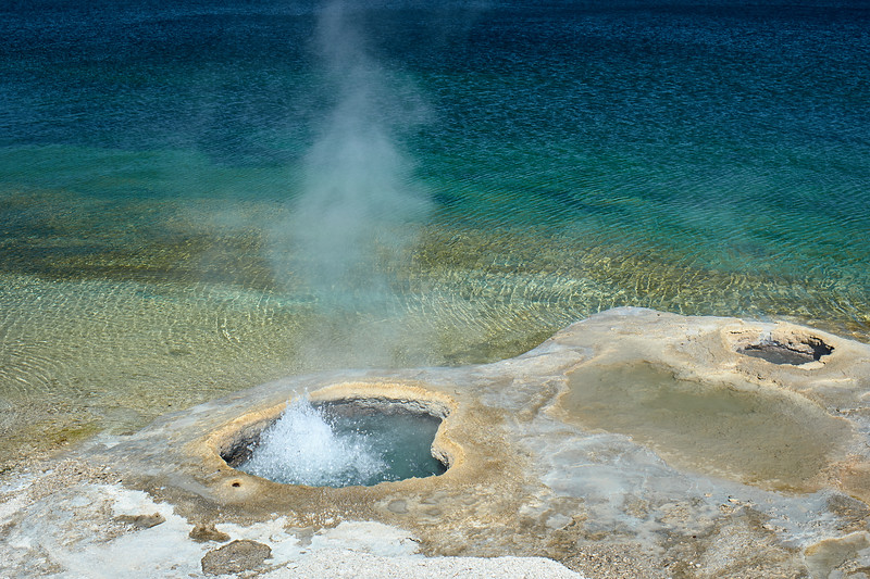Cones in the West Thumb Geyser Basin and Yellowstone Lake