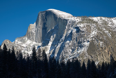 Half Dome from Southside Drive in Yosemite Valley.
