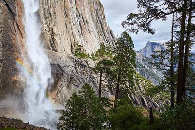 Yosemite Falls and Half Dome from the Yosemite Falls trail.