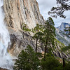 Yosemite Falls and Half Dome from the Yosemite Falls trail.