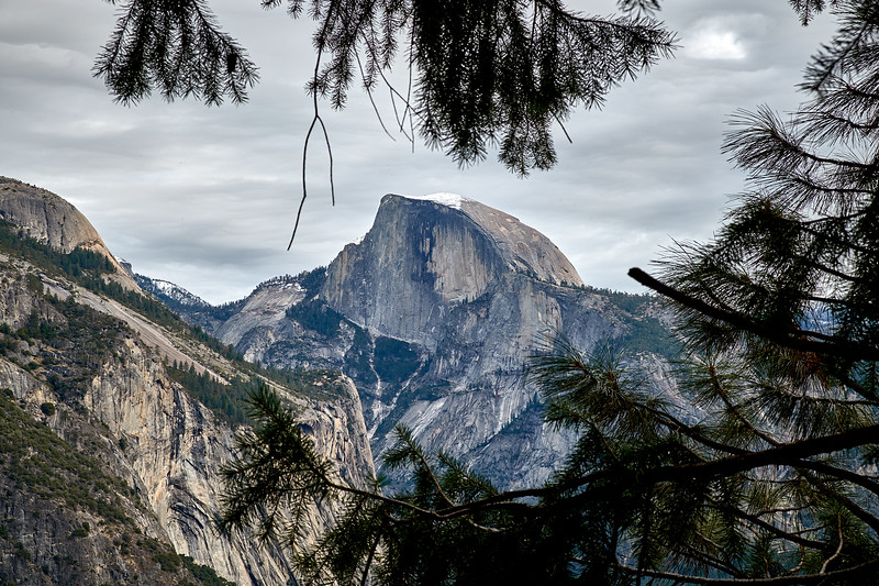 Half Dome from the Yosemite Falls trail.
