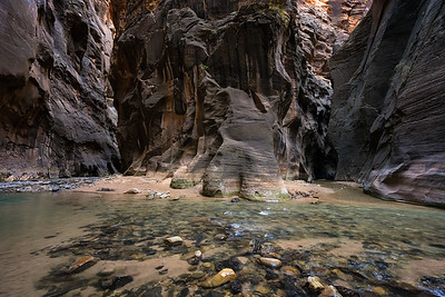Orderville Canyon in The Narrows, Zion National Park