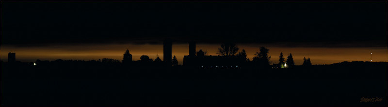 Midnight Farm (Wellesley) Panorama, up to 10 x 36 (5 x 18 shown)