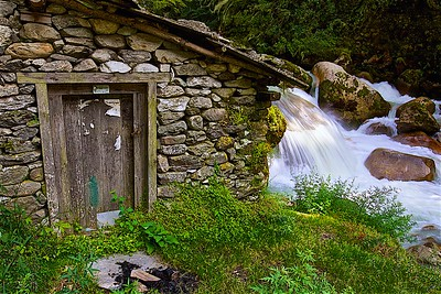 Water mill on the river