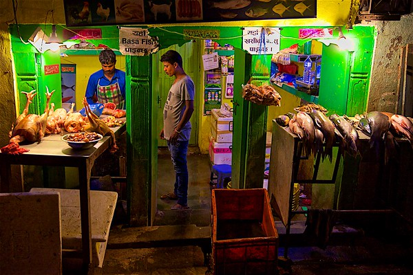 Meat and fish market