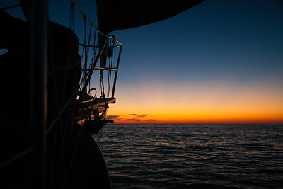 Continuing south heading into the first night offshore.
