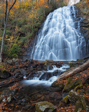 Fall in the Pisgah National Forest, North Carolina.