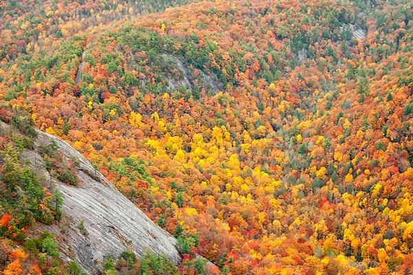 Fall on Whiteside Mountain, Nantahala National Forest, North Carolina.