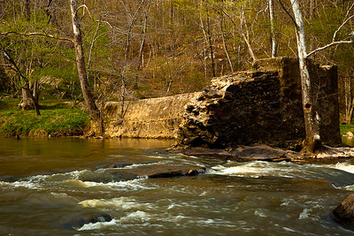 The Eno River has more or less returned to its natural state after being dotted with dozens of mills and dams between the 18th-20th centuries.  Eno River State Park, North Carolina.