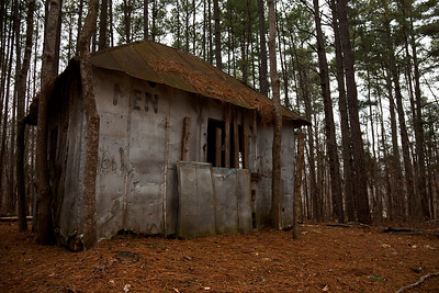 The old men's room at Occoneechee Speedway, NASCAR's first track in 1947.  Hillsborough, North Carolina.