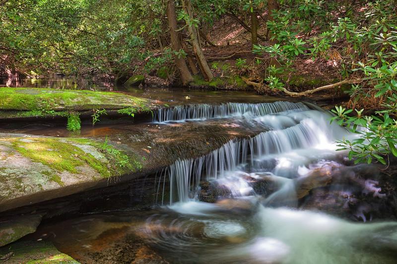 Lower Falls Trail.  Stone Mountain State Park, North Carolina.