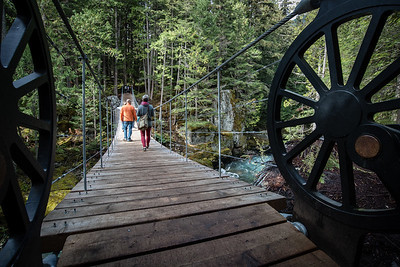 suspension bridge over cheakamus river