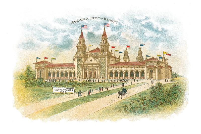 Pan-American Exposition Buffalo, New York: Mach'y & Transpn BLDG., undated - 18.20