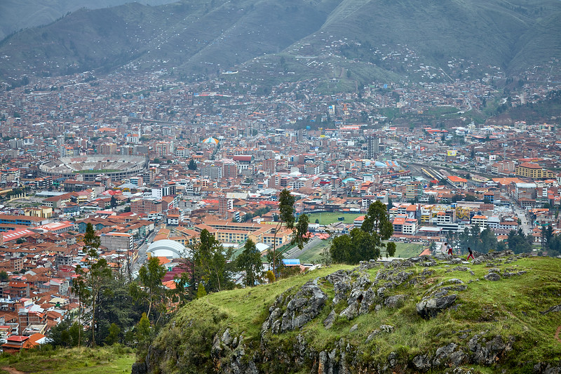 View of Cusco from Sacsayhuaman.