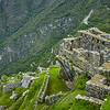 View of the valley from Machu Picchu.