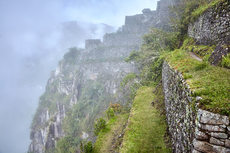 Terracing on Huaynapicchu, high above Machu Picchu.