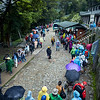 The other side of Machu Picchu - long lines to board the buses which run non-stop, delivering thousands of tourists.