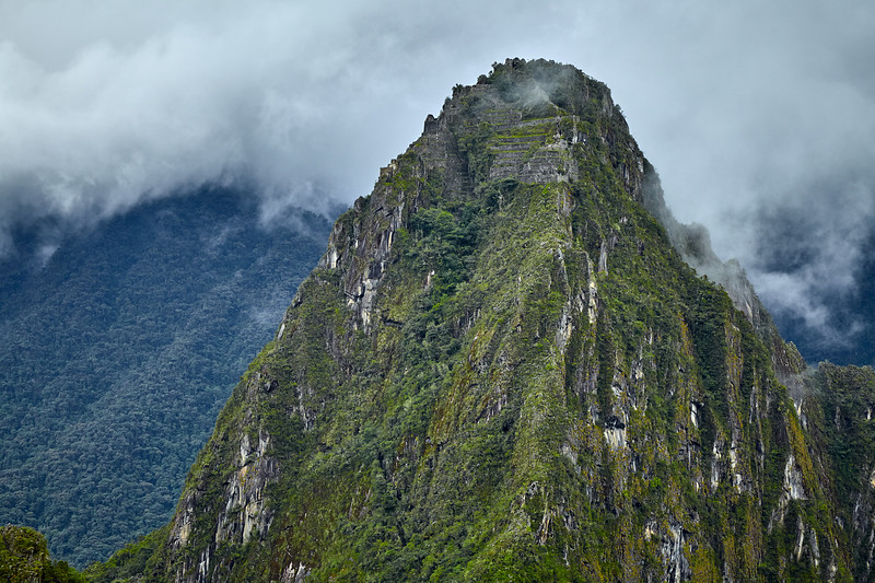 Looking towards the ruins on the top of Huaynapicchu.
