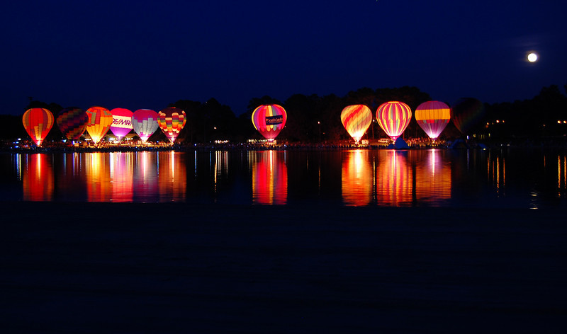Balloon Glow at Callaway Gardens, GA.   This is the kick-off of the Sky High Festival.
