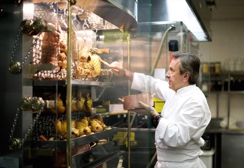 Rotisol rotisserie machine installed at Café Boulud