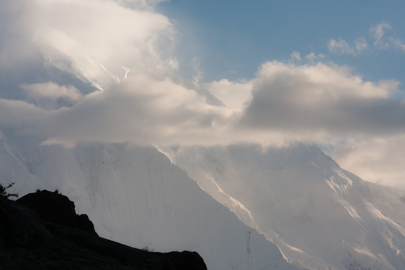 Rakaposhi through the clouds