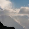 Rakaposhi through the clouds