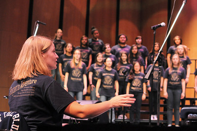 Carlmont Choirs Pops Benefit Concert performance.  Genevieve Tep, director.