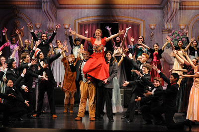 """Technical rehearsal for Carlmont High School """"Annie Get Your Gun"""" production.  February 2014"""
