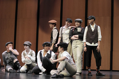 "Dress Rehearsal photo from Carlmont High School Show-Choir production of ""Newsies"".  October, 2013"