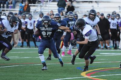 Carlmont High School JV Football vs. Sequoia High School.  Cross-Town-Rival game. November 2013