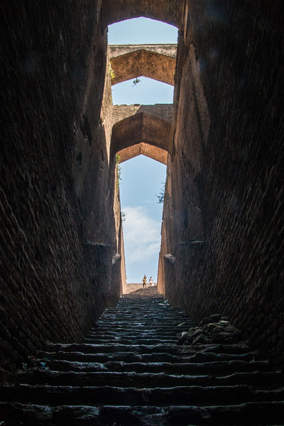 An old stepwell (baoli) in Rohtas Fort, near Jhelum
