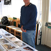 14 SEP 2019  - Pictured: Dennis Sharp from Coventry, photo display, Visitor Information Centre, Ha'penny Pier -  Harwich Society, Heritage Open Days Weekend  -  Photo Copyright © Maria Fowler 2019