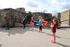 12 SEP 2020 – Pictured L-R:  Simon Todd (WW2 Reenactor) Luca Groom (age 8), Ronnie Phillips (age 6),  Gracie Phillips (age 9) and Marissa Groom (age 4) - Harwich Redoubt Fort – Heritage Open Days – Photo Copyright © Maria Fowler 2020
