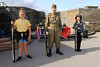 12 SEP 2020 – Pictured L-R: Kera, age 9, Spring Meadows School, Dovercourt, Grant Harris (WW2 Reenactor) and Henry O'Sullivan, age 9, St. Philomena's School, Frinton-on-Sea - Harwich Redoubt Fort – Heritage Open Days – Photo Copyright © Maria Fowler 2020