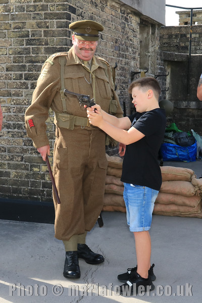 12 SEP 2020 – PICTURED: Simon Todd and Ethan Hunter, age 9, Mayflower Primary School - Harwich Redoubt Fort – Heritage Open Days – Photo Copyright © Maria Fowler 2020