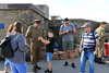 12 SEP 2020 – PICTURED: Simon Todd (WW2 Reenactor) and Ethan Hunter, age 9, Mayflower Primary School - Harwich Redoubt Fort – Heritage Open Days – Photo Copyright © Maria Fowler 2020