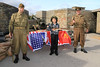 12 SEP 2020 – Pictured L-R: Grant Harris (WW2 Reenactor), Henry O'Sullivan, age 9, St. Philomena's School, Frinton-on-Sea and Simon Todd (WW2 Reenactor)  - Harwich Redoubt Fort – Heritage Open Days – Photo Copyright © Maria Fowler 2020