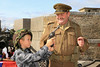 12 SEP 2020 – Pictured: Henry O'Sullivan, age 9, St. Philomena's School, Frinton-on-Sea and Simon Todd (WW2 Reenactor)  - Harwich Redoubt Fort – Heritage Open Days – Photo Copyright © Maria Fowler 2020