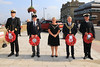 03 SEP 2021 PICTURED L-R: Acting Commander Adam Kean (Trinity House), Rodney Gates (Chairman, MNA Harwich & District), Cllr. Jo Henderson (Mayoress of Harwich), Cllr. Ivan Henderson (Mayor of Harwich) and Mechanic AB Vincent Lord (Trinity House) – Merchant Navy Day, wreath laying – The Quay, Harwich – Photo Copyright © Maria Fowler 2021