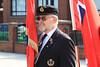 03 SEP 2021 – PICTURED: Standard-bearer Andy Tannock - Merchant Navy Day, wreath laying – The Quay, Harwich – Photo Copyright © Maria Fowler 2021