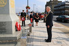 03 SEP 2021 – PICTURED: Cllr. Ivan Henderson, Mayor of Harwich - Merchant Navy Day, wreath laying – The Quay, Harwich – Photo Copyright © Maria Fowler 2021