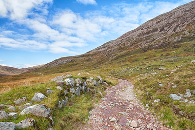 The path through The Lairigmor seemed to never end.  Scotland.
