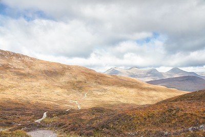 Looking north to The Mamores from the top of the Devil's Staircase, where the Way seems to continue to infiity.  Scotland.