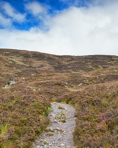 Looking up at the Devil's Staircase, an 850-foot climb constructed in the mid-18th century.  Scotland.