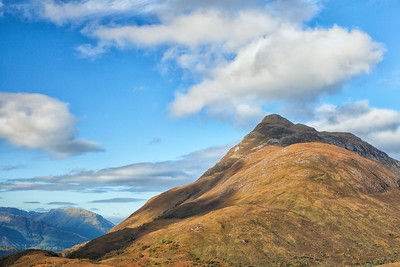 Inching higher towards Beinn na Caillich, on the north shore of Loch Leven.  Scotland.