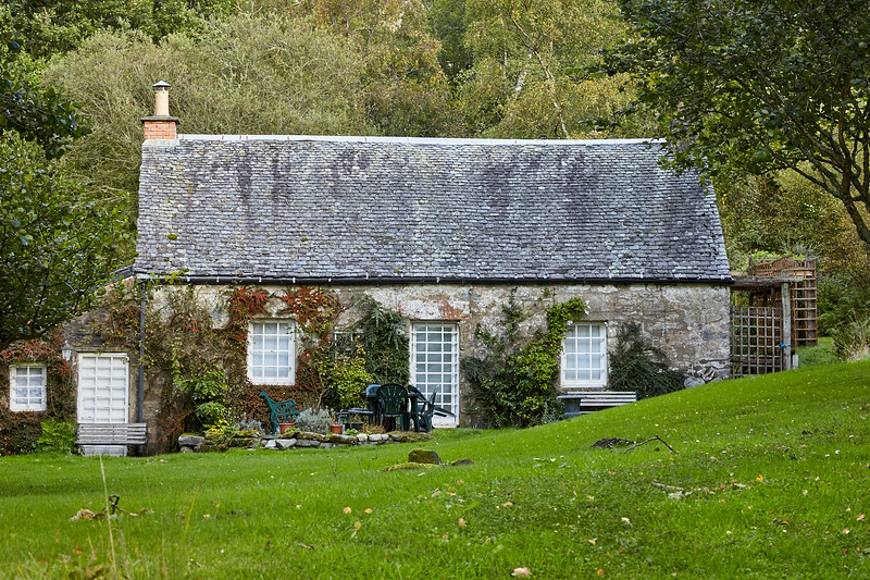 Mill of Ross Cottage sits off of the West Highland Way, just south of Rowardennan.  Scotland.