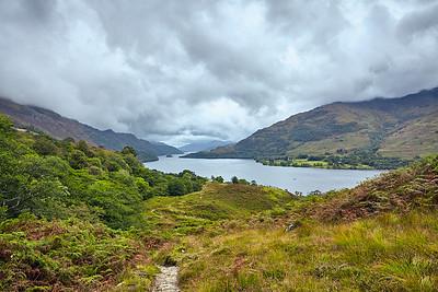 Final views of Loch Lomond before descending into Glen Falloch.  Scotland.